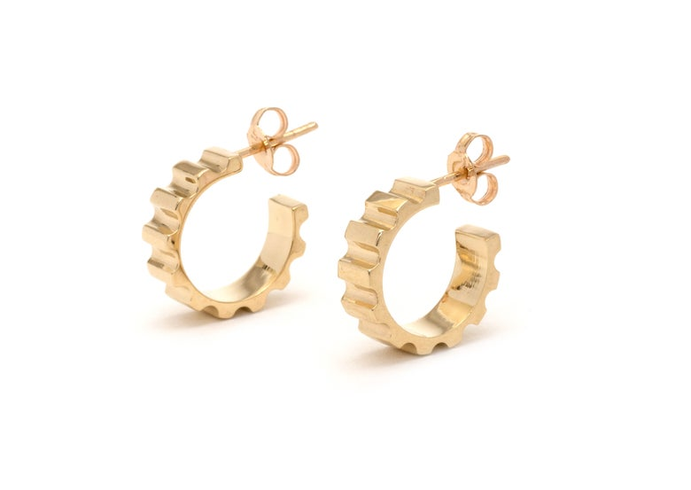 Image of Parmentier hoop earrings - 9ct yellow gold