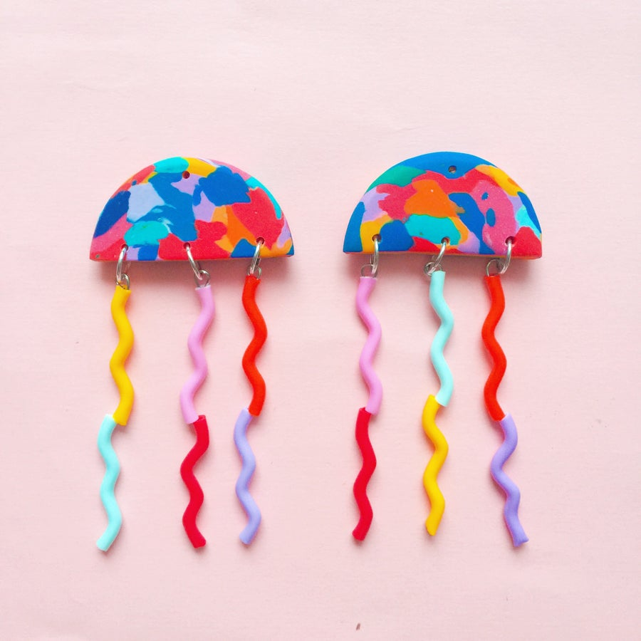 Image of Double rainbow jellies