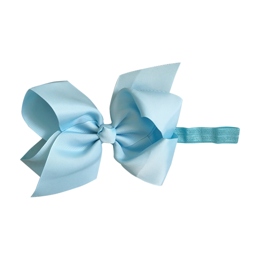Image of Powder Blue Big Bow Baby Headband