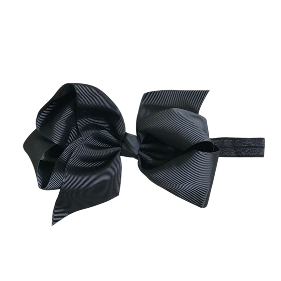 Image of Raven Big Bow Baby Headband