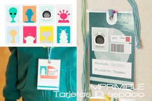 Image of Tarjetas ID Fiesta del espacio