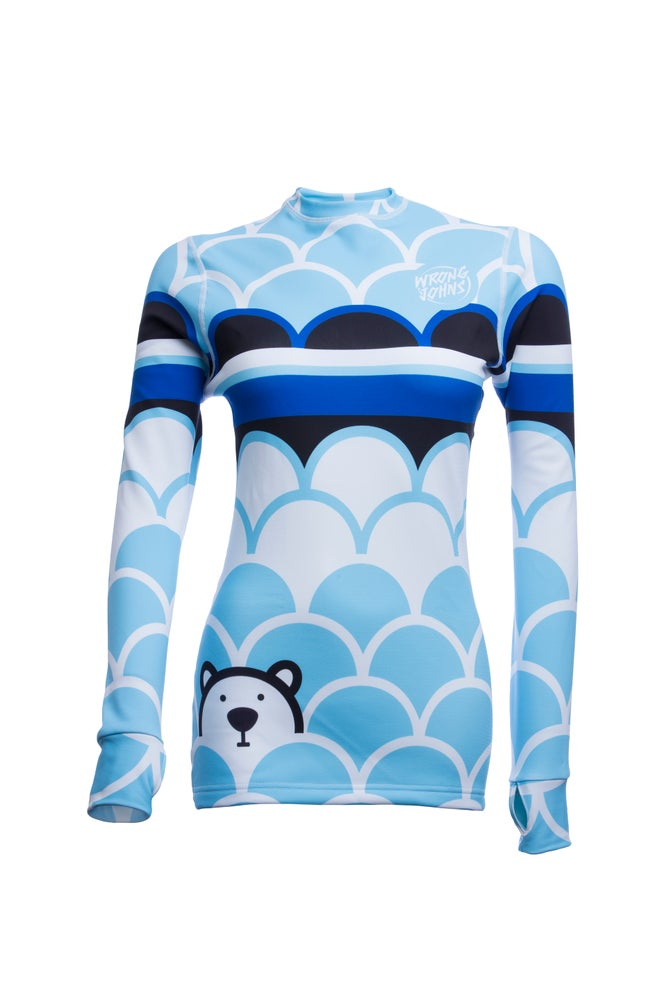 Image of Womens Polar Bear Thermal  Top