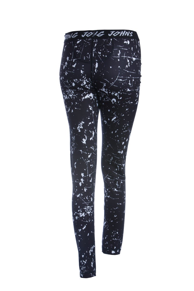 Image of Mens White Splashed Paint Thermal Bottoms