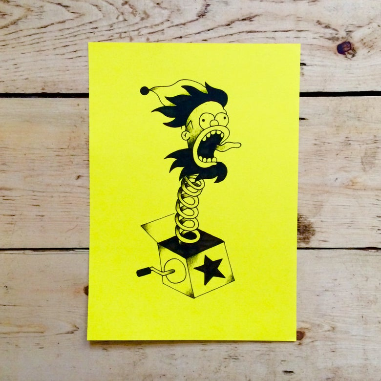 Image of Homer In A Box print A3