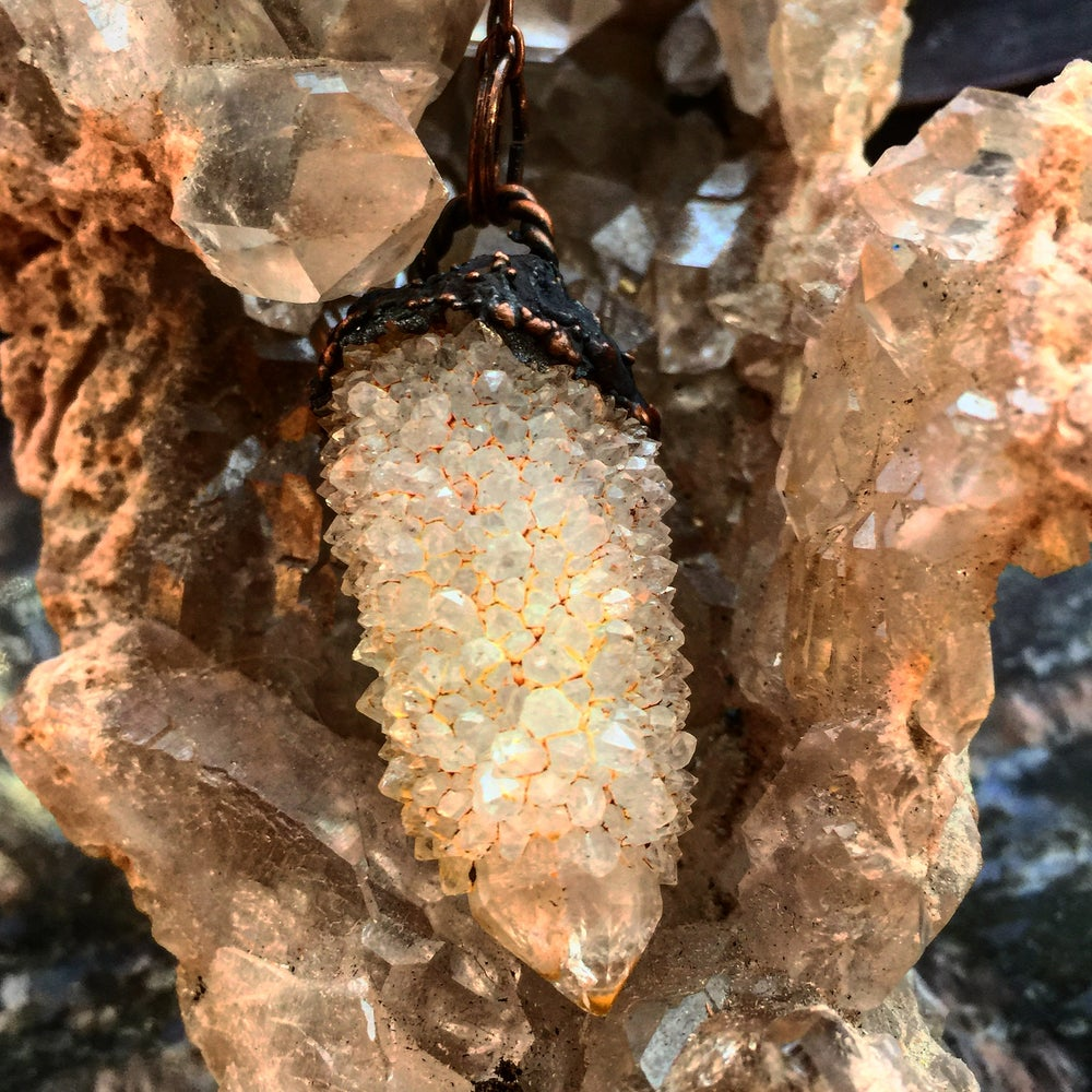 Image of *RARE* Angel Aura Fairy Quartz on Copper
