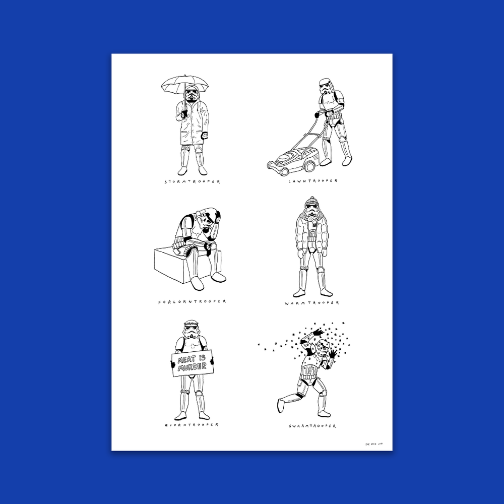 Image of Stormtroopers A3 Visual Puns Poster