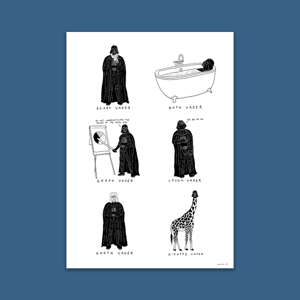 Image of Darth Vader A3 Visual Puns Poster