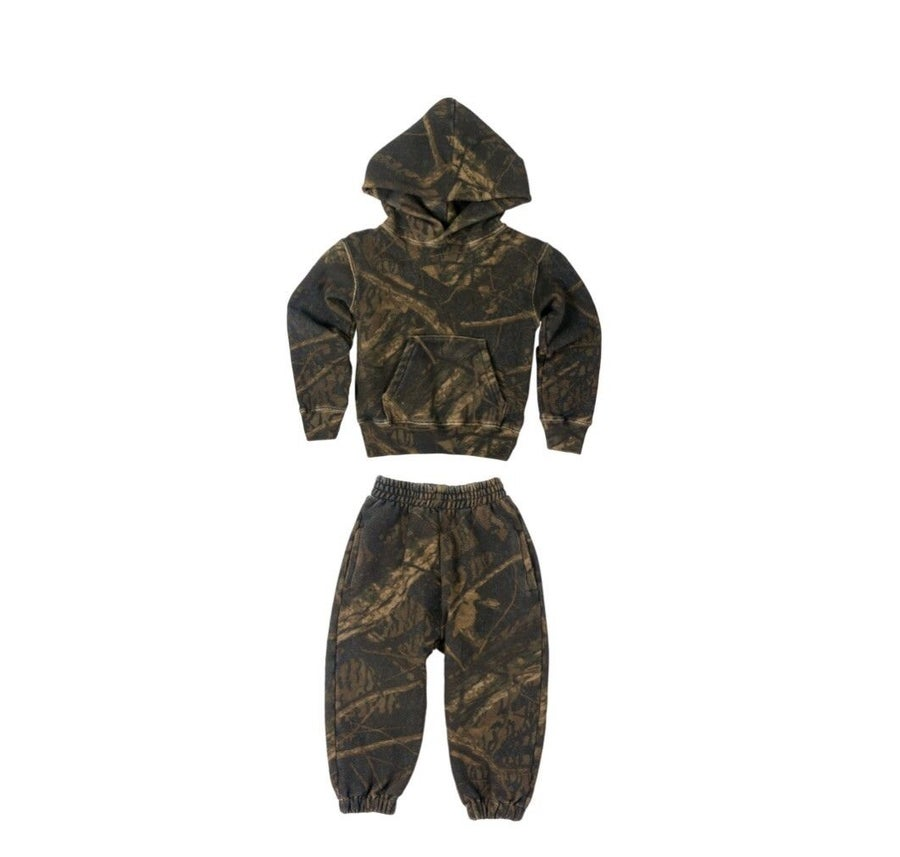 Image of Yeezy Kids Supply Camo Jogger Set Sz 7/8 Kids