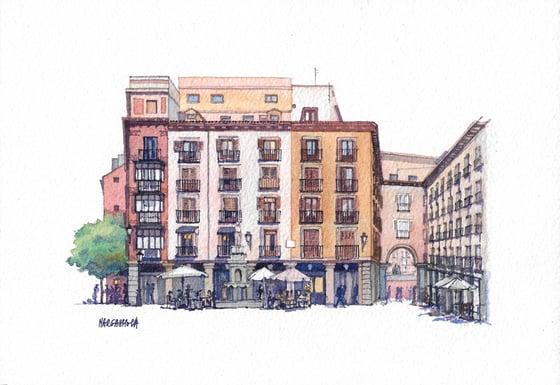 Image of Plaza de la Provincia - Madrid, España | Original Watercolor | Acuarela Original