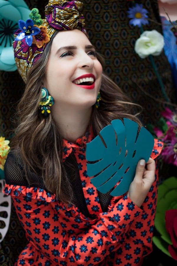 Image of Tribute to Carmen Miranda - Cuanto le gusta - broche brodée haute couture