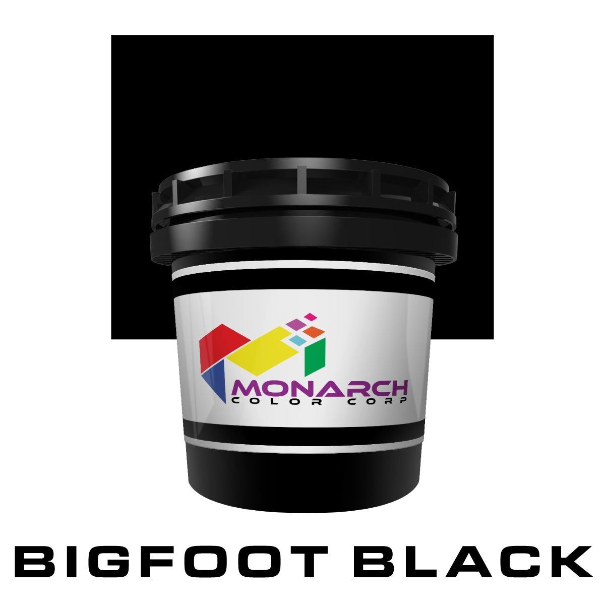 Image of MP7-0104 - LB BIGFOOT BLACK - Poly/Cotton Blend Plastisol Ink (by Monarch Color)