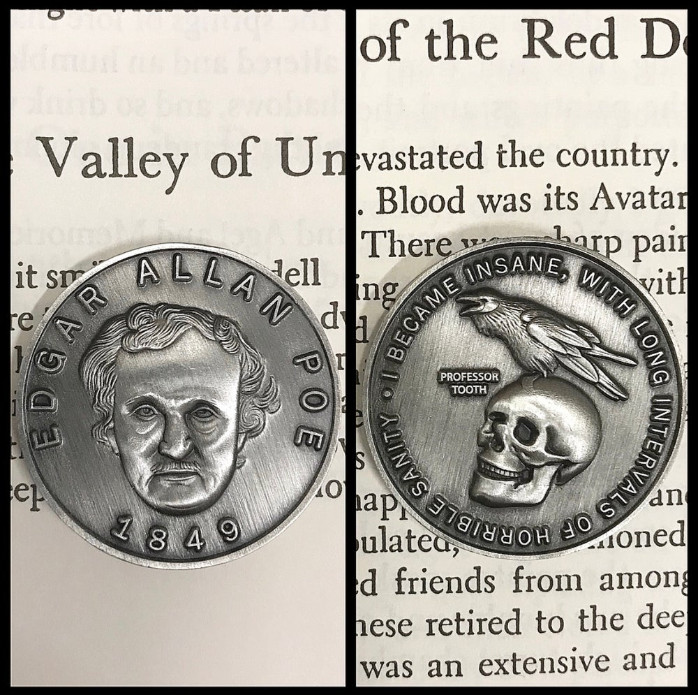 Image of Author and Poet Edgar Allan Poe Coin