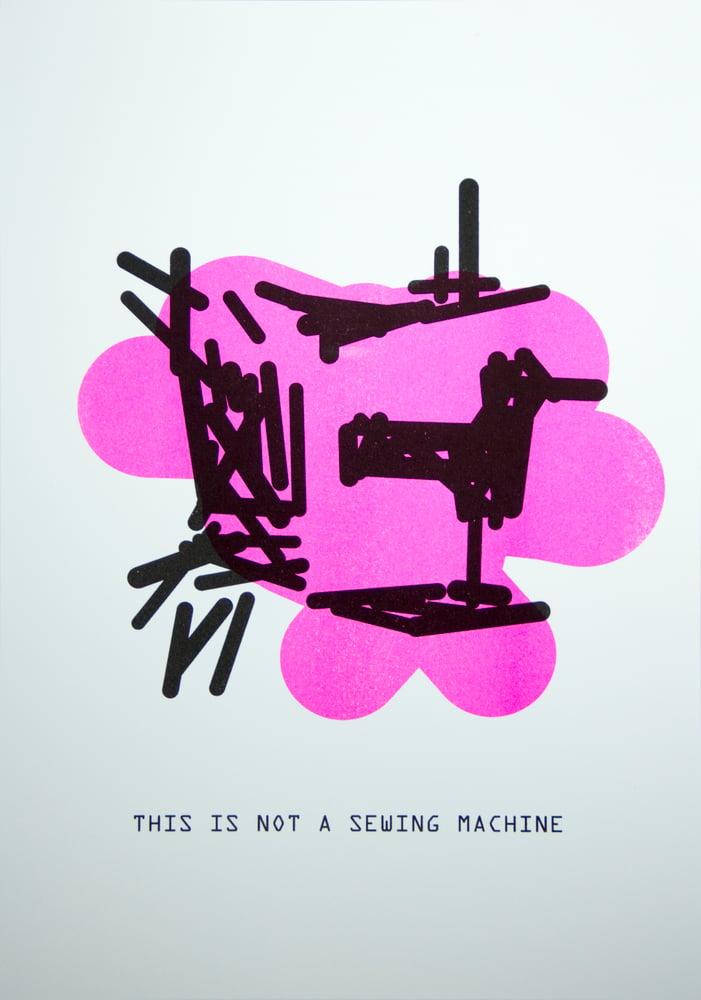 Image of The Treachery of ImageNet: Sewing Machine