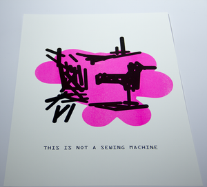 Image of The Treachery of ImageNet: Sewing Machine