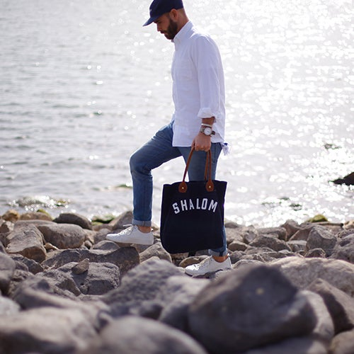 Image of Leather Shalom Tote