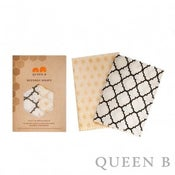 Image of Queen B - Beeswax Wraps - 2 x medium (Neutral)