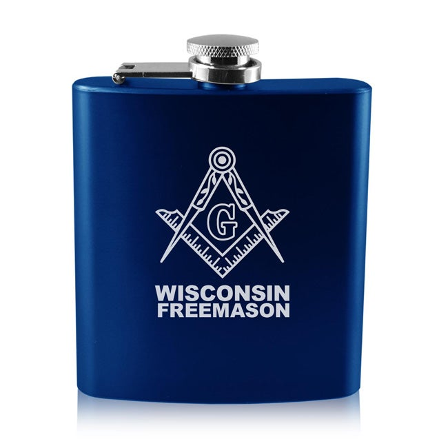 Image of 6 OZ OLD FASHIONED STAINLESS STEEL FLASK
