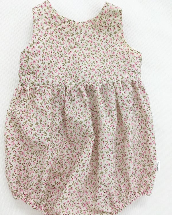 Image of Party playsuit with cut out back