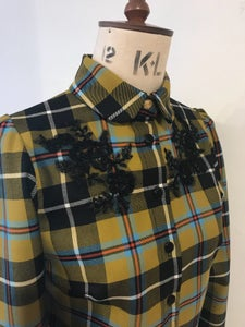 Image of Pure wool beaded tartan mod shirt