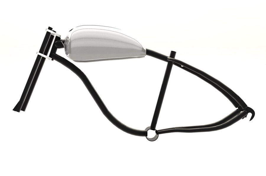Image of Motorized bicycle Fat tire Frame tank kit 01