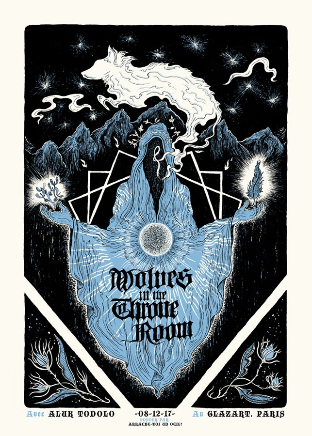 WOLVES IN THE THRONE ROOM (Paris 2017) screenprinted poster