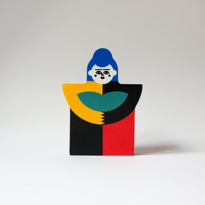 Image of BLUE RODA DOLL