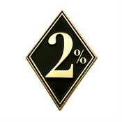 Image of 2% Metal Badge