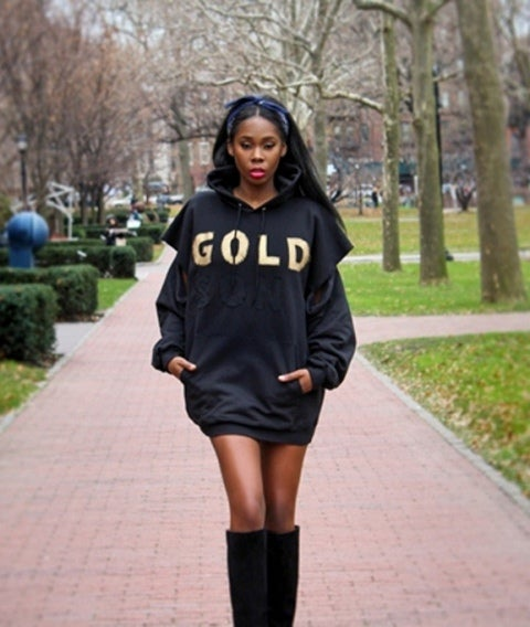 Image of Limited Edition GOLD-SON oversized hooded sweatshirt