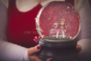 Image of 2017 Mrs. Claus Snowglobe Digital Template
