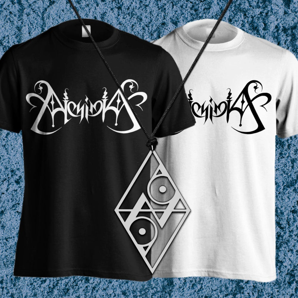 Image of ''MUSA'' BUNDLE : T-SHIRT + ''ALCHEMICAL SEAL'' PENDANT + FREE SIGNED POSTCARD (MUSA COVER)