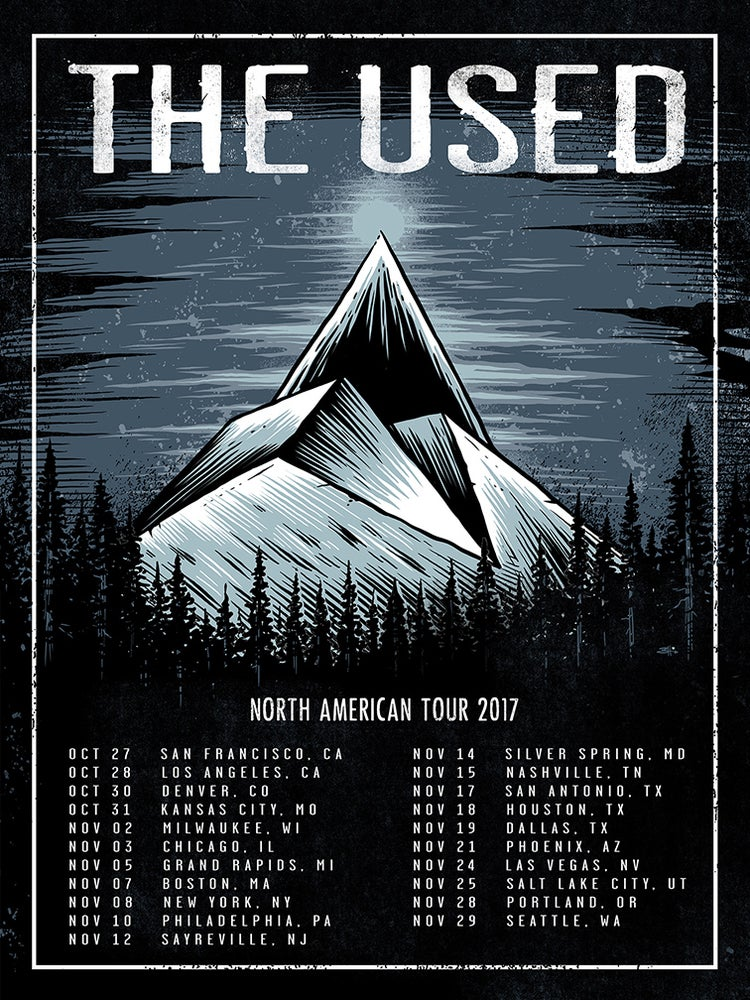 Image of The Used 2017 NA Tour Poster