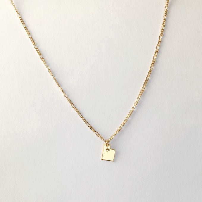 Image of UTAH Necklace 24k Gold Plated