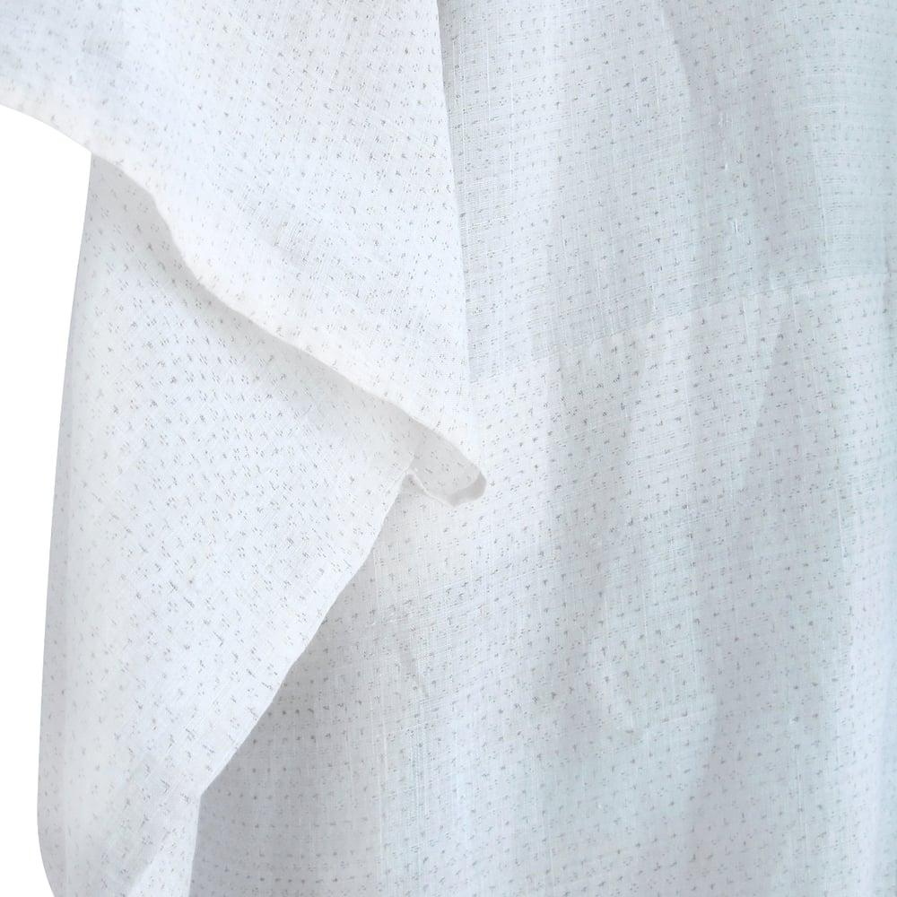 Image of Hør kimono offwhite med sandfarvede nister