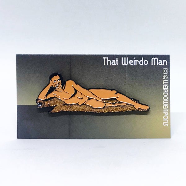 Image of Burt Reynolds Cosmo Centerfold 1972 pin
