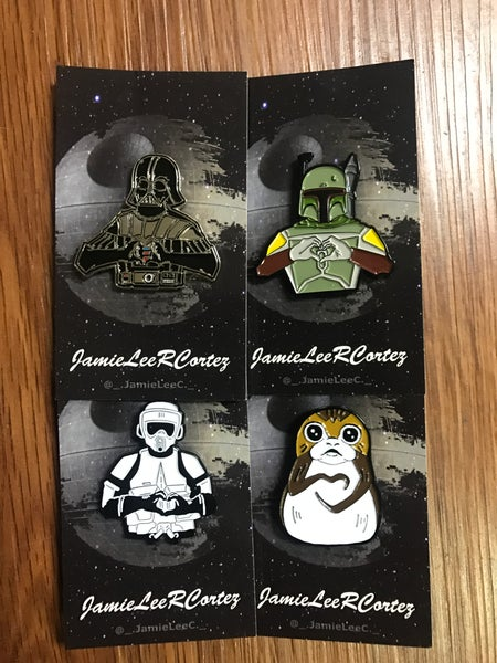 Image of I Heart U Star Wars pins by Jamie Lee R Cortez