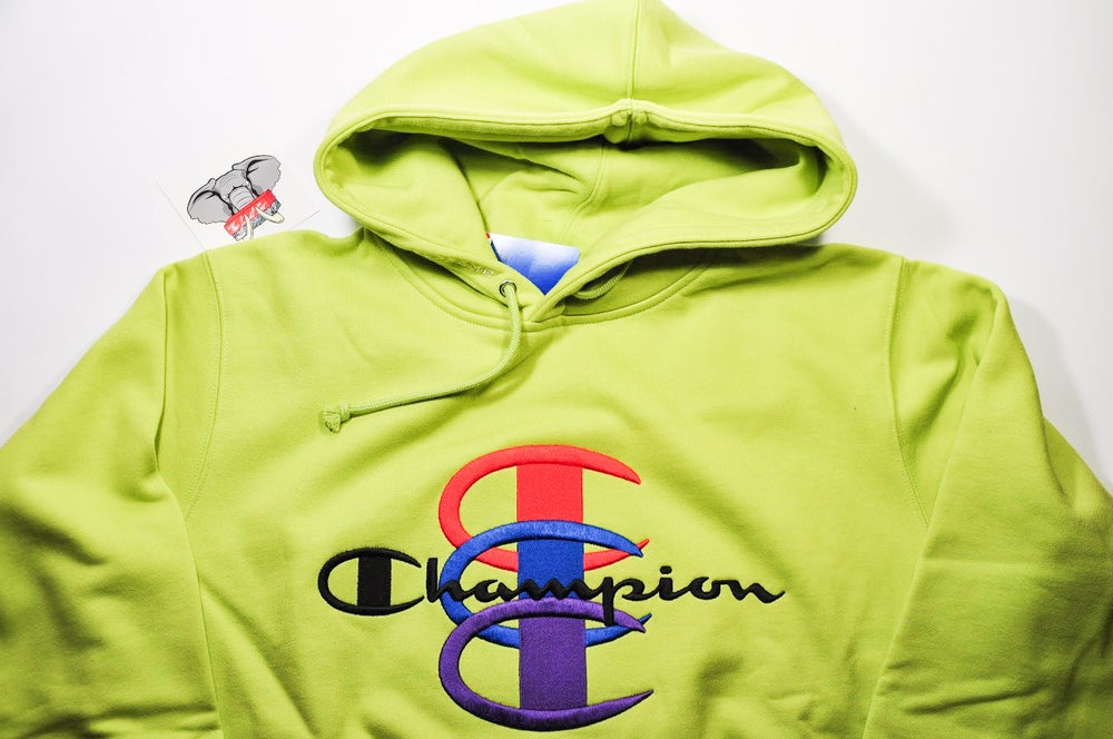 990cbf6adf65 ... Image of Supreme Champion Stacked C Hooded Sweatshirt ...