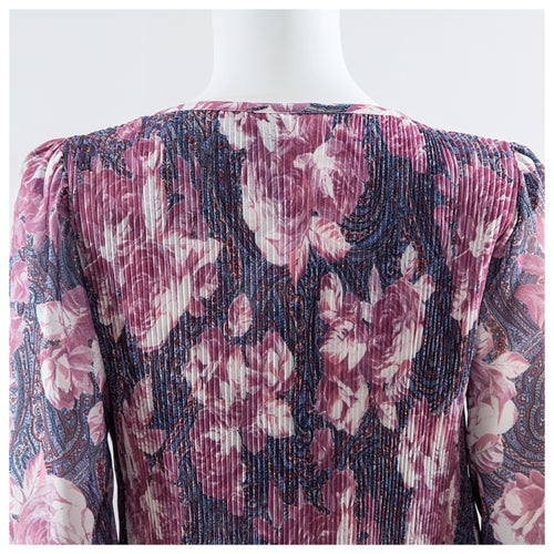 Image of Pleated Paisley & Roses