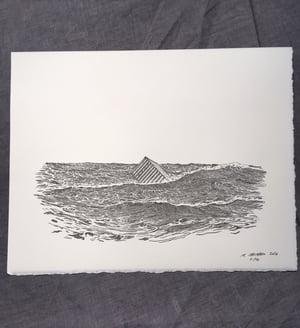 Image of Floating Along- Letterpress Print