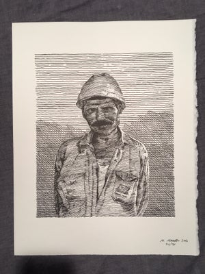 Image of A Stevedore of Karachi Pakistan- Letterpress Print