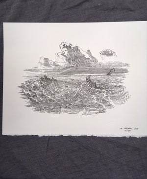 Image of Thar She Blows- Letterpress Print