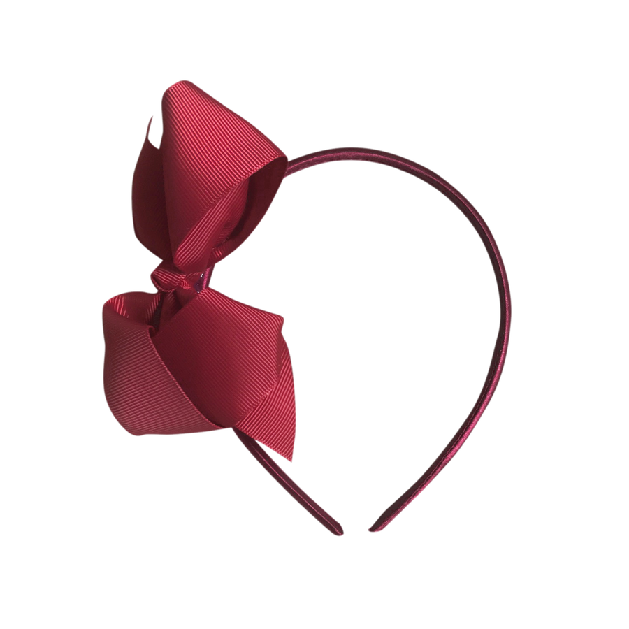 Image of Dark Red Bow Headband