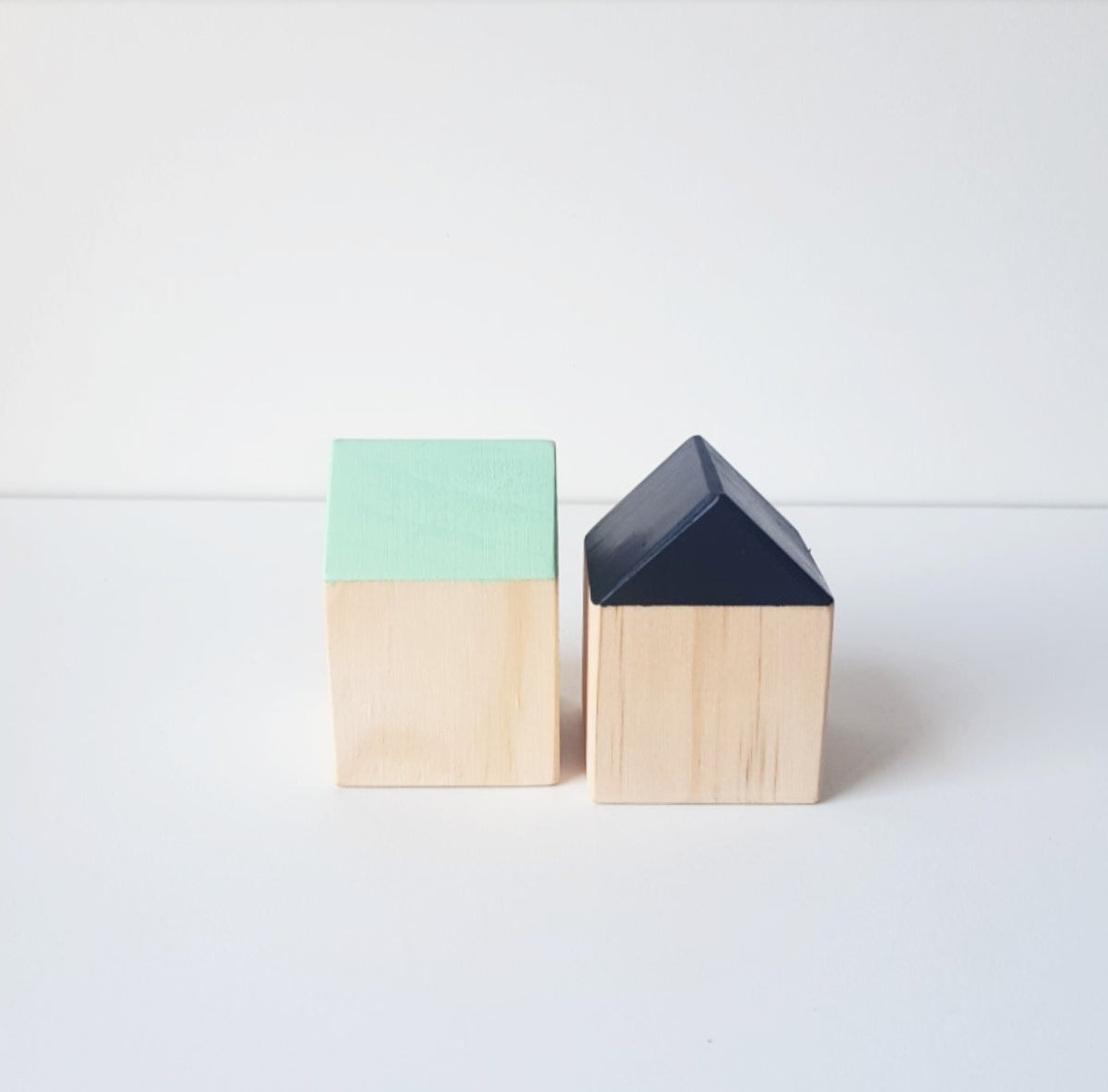 Image of Wooden Houses (Set of 2)