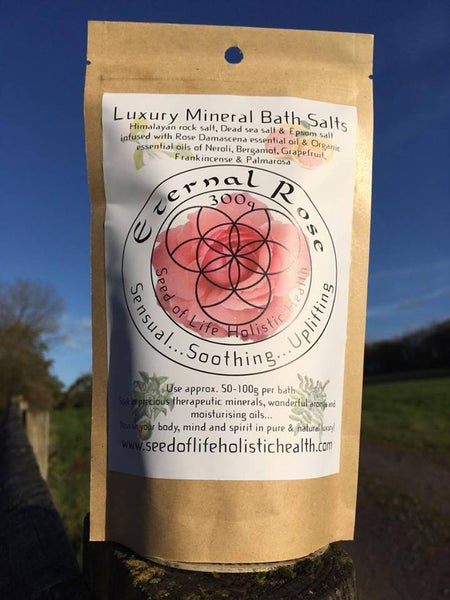 Image of 100% Natural & Organic Eternal Rose Mineral Bath Salts - 300g bag