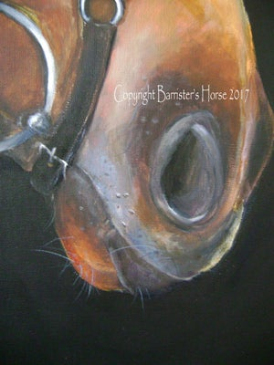 "Image of 'PATIENCE OF JOB' ORIGINAL HORSE PAINTING, 48"" x 30"" ACRYLIC ON LINEN"
