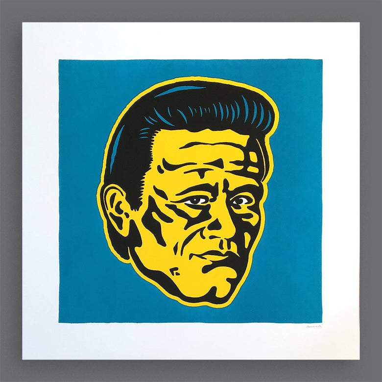 Image of Johnny Silkscreen Print