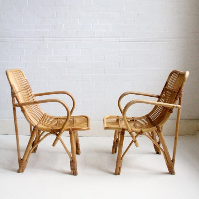 Image of Pair of Dutch cane chairs