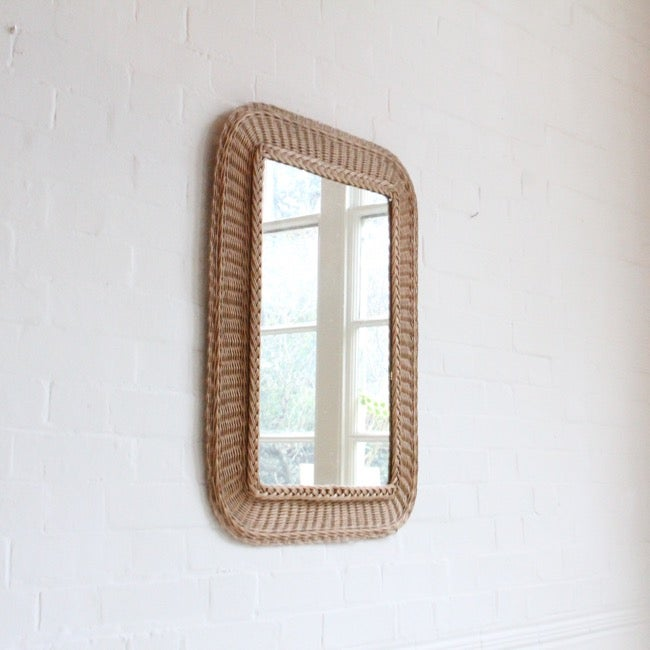 Image of Large rattan mirror