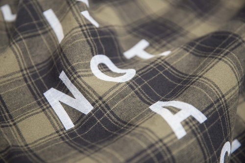 "Image of ""Life Is Not A Race""  FLANNEL OLIVE"