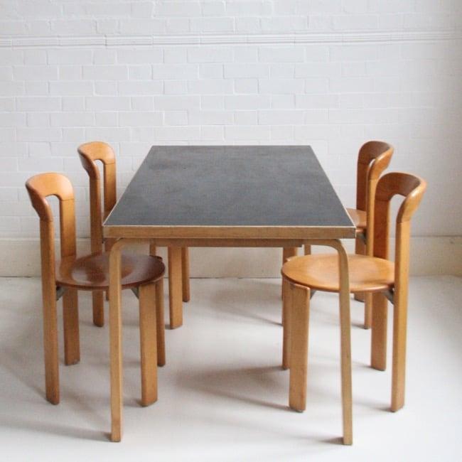 Image of Black Aalto table c1980
