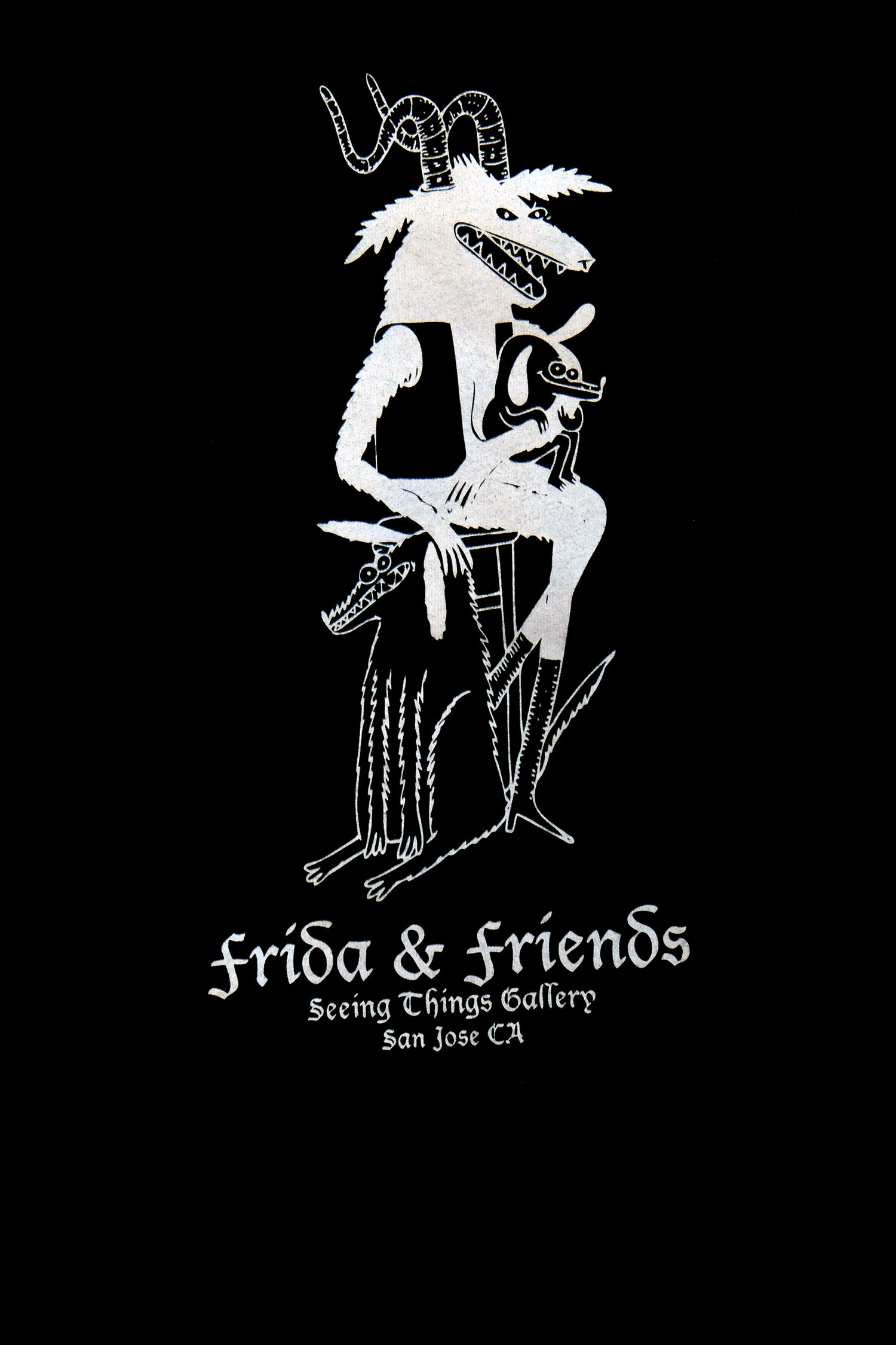 Image of Frida & Friends black T shirts